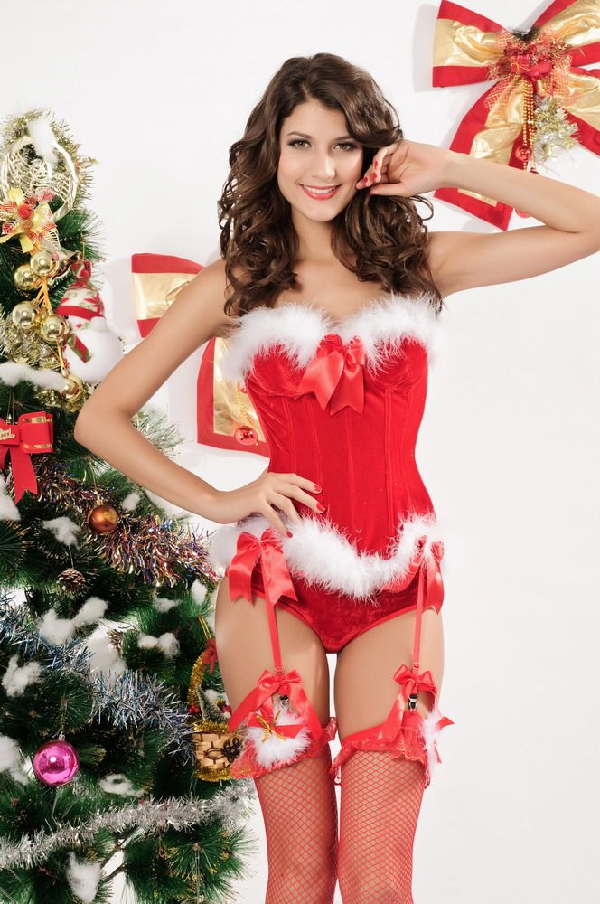 Christmas costume ( sexy red vest )