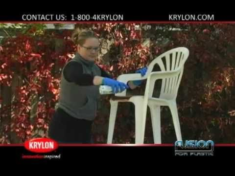 A step-by-step guide on how to spray paint plastic outdoor furniture with Krylon Fusion for Plastic to turn it into beautiful patio furniture! This project can be completed in 3 easy steps! For more information on Fusion for Plastic spray paint, visit http://www.krylon.com/products/fusion_for_plastic/