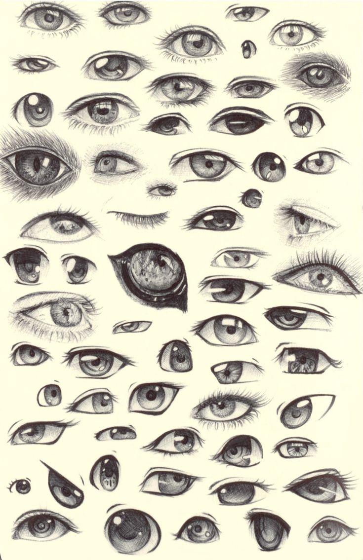 Eye Sketches by ~ShadowSeason on deviantART