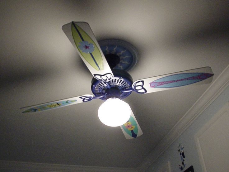 Surf themed room ceiling fan i did it pinterest surf ceiling fans and ceilings - Beach themed ceiling fan ...