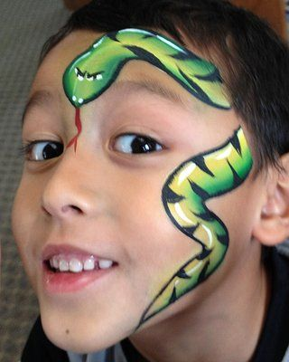 Snake face paint - I like the white highlights and eyes