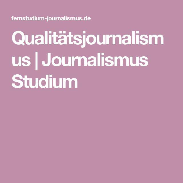 Qualitätsjournalismus | Journalismus Studium