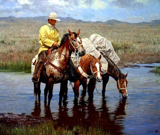 the-water-hole - Tony EubanksArt Work, Cowboy Fine, Equine Artists, Cowboycowgirl Life, Art West, Westerns Art, Cowboy Cowgirls Life, Things Westerns, Westerns Stuff