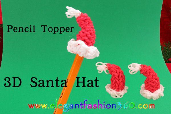 Rainbow Loom - Christmas Charms, ornaments, bracelet , tutorials and photos