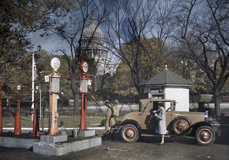 Америка начала 1920-х в цветных фотографиях