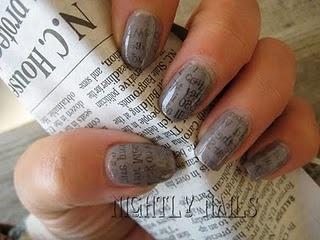 Best 25 newsprint nails ideas on pinterest diy newspaper nails hello makeupoholics today i am going to share a veryyy interesting video with you all its news paper nail art prinsesfo Image collections