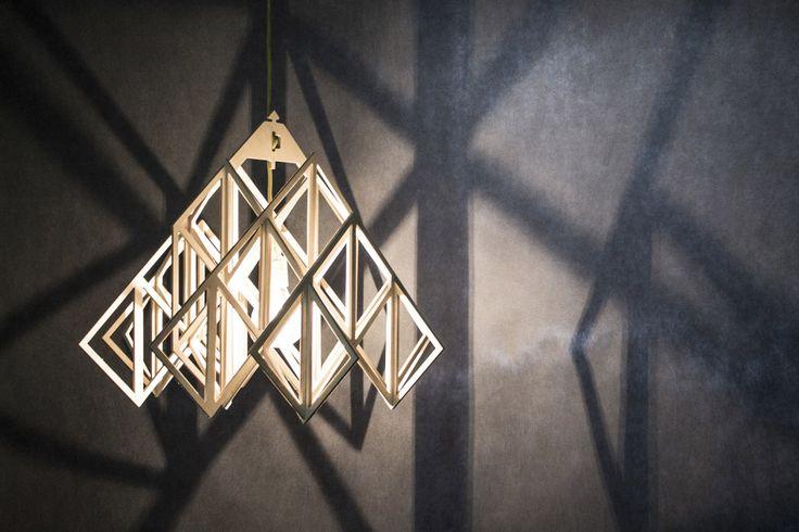 lampa wisząca HIMMELI DIAMENT abażur ze sklejki