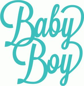 Silhouette Online Store - View Design #40900: baby boy script lettering title