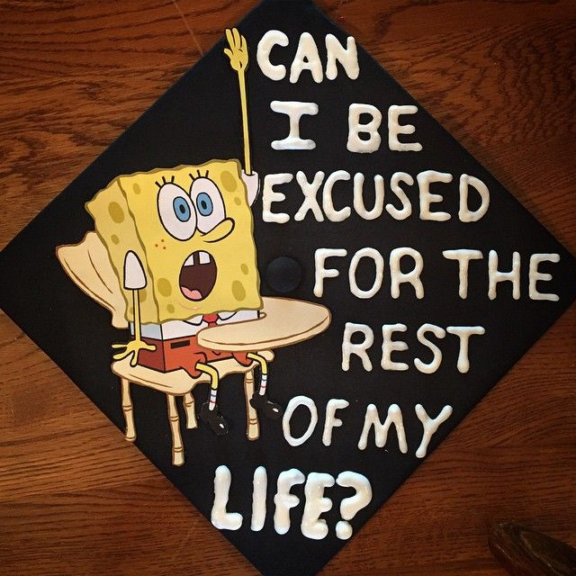 SpongeBob-themed graduation caps: 2015 edition - SpongeBob ...
