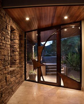 view this great contemporary front door with exterior stone floors french doors by soloway designs inc discover browse thousands of other home design - Contemporary Home Design Ideas