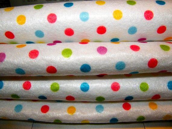 Multicolor Polka Dots Felt Sheet Adorable
