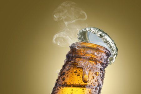 Although usually no one likes to waste beer, sometimes there's leftover stale beer in the mornings after a long night; don't throw out the beer and just recycle the bottle.
