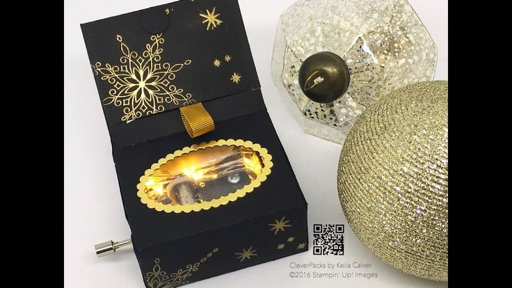 """""""18"""" Sleeps Till Christmas - Light Music Box with Stampin' Up! Star of L..."""