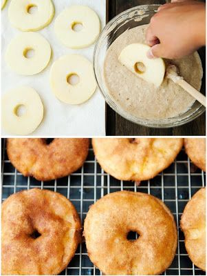 A Beautiful Mess: yummy apple pancake rings.  Flax would probably be a good egg substitute for this.
