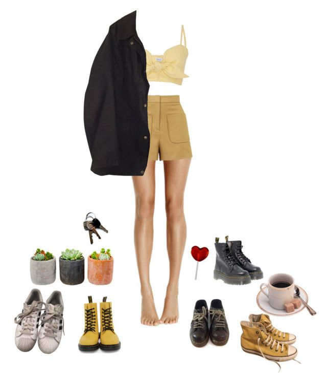 """I miss summer"" by ranbowi on Polyvore featuring Faithfull, Dr. Martens, Topshop, Converse, adidas, Barbour, Shop Succulents, vintage, Summer and retro"