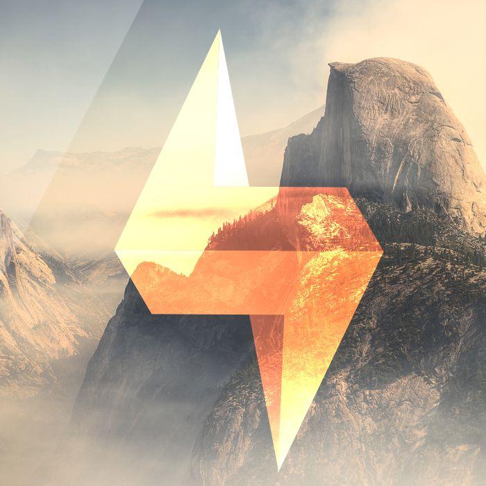 #geometría #design #diseño #montañas #rayo