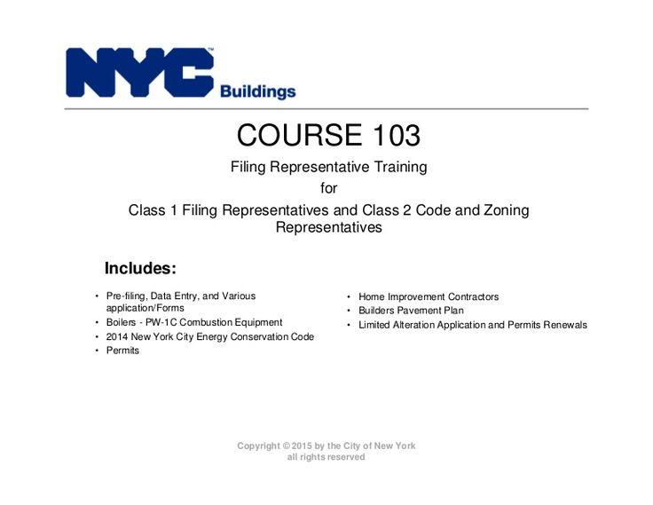 New York City Department of Buildings Filing