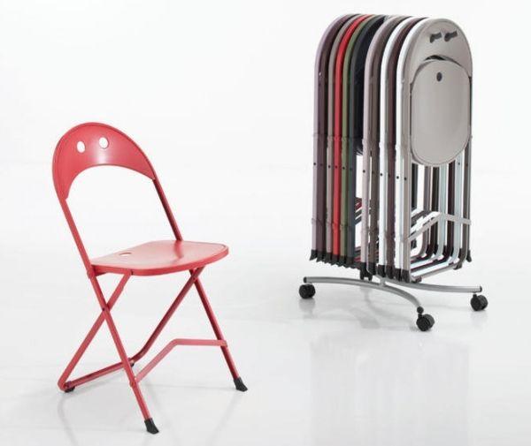 12 sedie pieghevoli Birba con carrello | Sedie pieghevoli