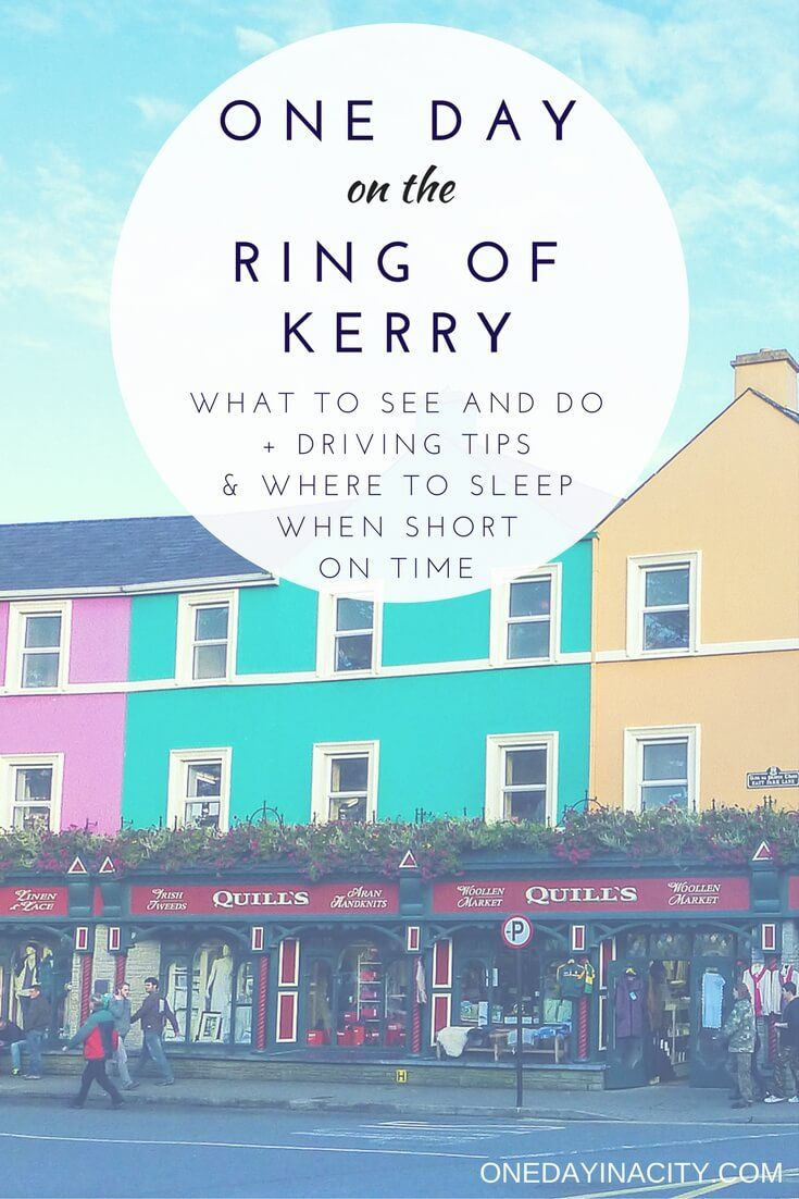 A detailed itinerary for spending one day visiting the Ring of Kerry in Ireland highlighting the best places to stop. Find out the top things to do and see that you can't miss, including Kenmare, Skellig Michael, Valentia Island, Staigue Fort, and much more. Also includes tips for driving the Ring of Kerry, best times to visit, and where to sleep while there.