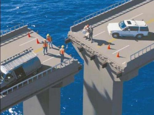 The architect who can't seem to properly bridge this gap. | 33 Architects Who Completely Screwed Up Their One Job