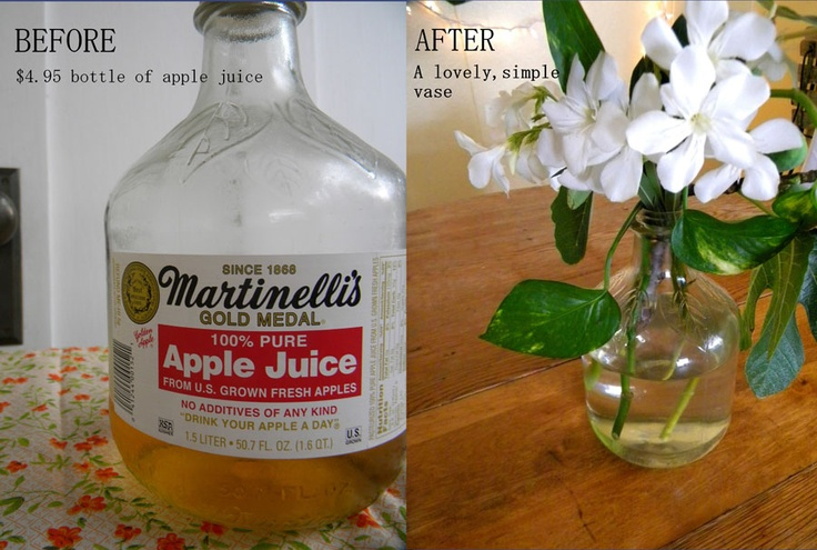 turn my Martinelli's Apple Juice jar into a beautiful ...