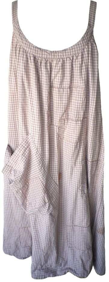Magnolia Pearl: Dahlia checked cotton Bellabird Work Smock Dress