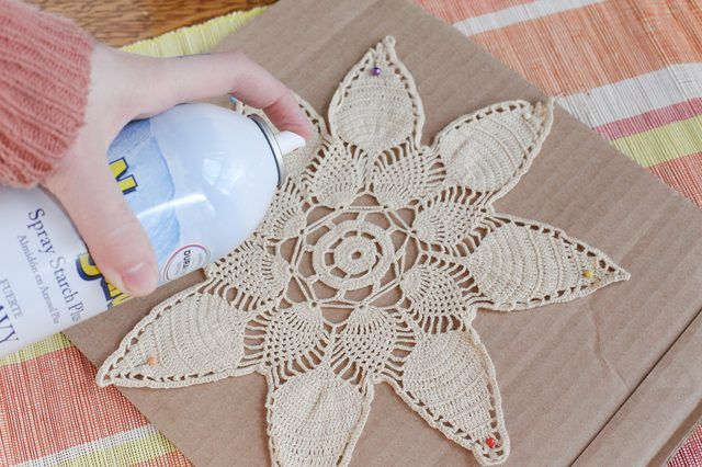 Doilies, snowflakes and other small, openwork crochet pieces need to be shaped to display their beauty. These pieces depend on a darker background to bring out the pattern that is crocheted, and if the crochet is wrinkled or shrunken, the pattern will not show to its best advantage. Simple stretching into shape doesn't last for long. To give...