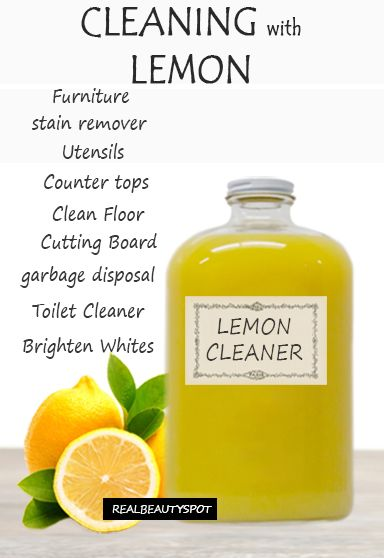 Best ways to Clean with Lemons - furniture cleaner, floor cleaner, toilet cleaner, stain remover and miuch more.