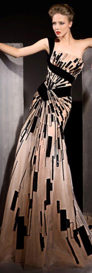 Vestido estampado de color crudo y negro de Blanka Matragi #dress #black #original