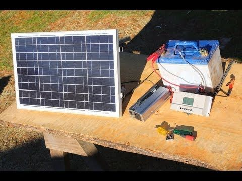 How to build a basic portable solar power system -camping,boating,off grid living- - YouTube