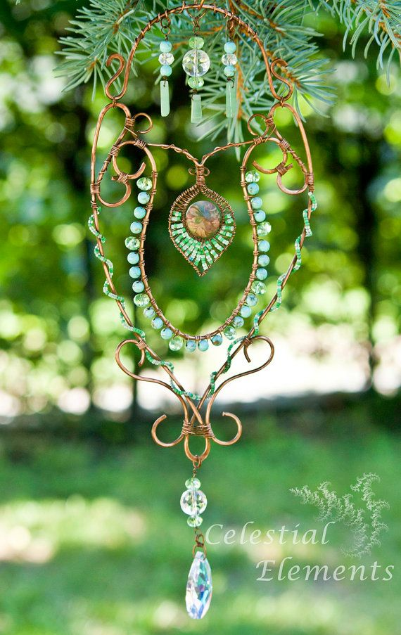 Sun catcher turquoise beads wraped around by CelestialElementsNM