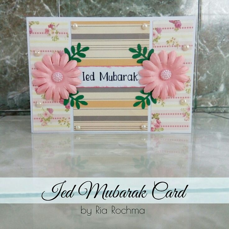 [Card Making] Ied Mubarak Card for Yulianti, Sumatra, Indonesia