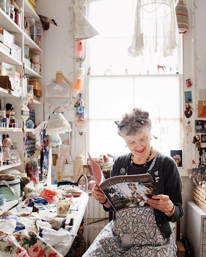 Julie Arkell. Creative space. Bright sunlit window.