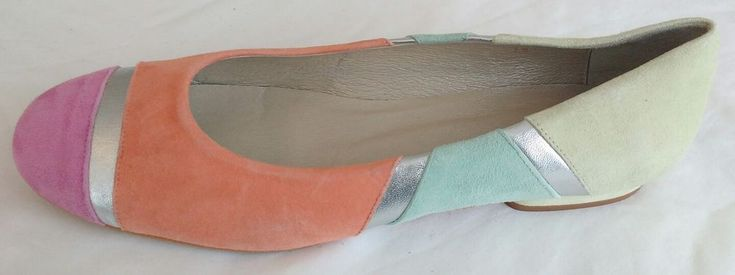 Womens Ladies Cefalu Multi-Coloured Ballet Flats Flat Shoes Size 6/39 Nearly New