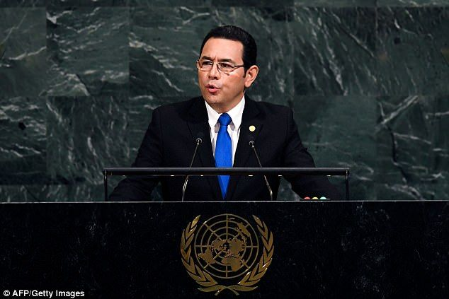 Guatemalan President Jimmy Moralesaid on his official Facebook account Sunday thathe decided to instruct his foreign ministry to move the embassy from Tel Aviv to Jerusalem