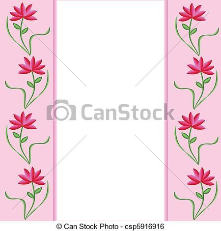Pink+Flower+Border+Clip+Art | Pink borders with pretty ...