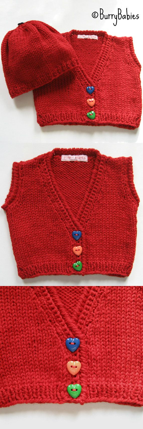 Christmas Red Baby Sweater and Hat