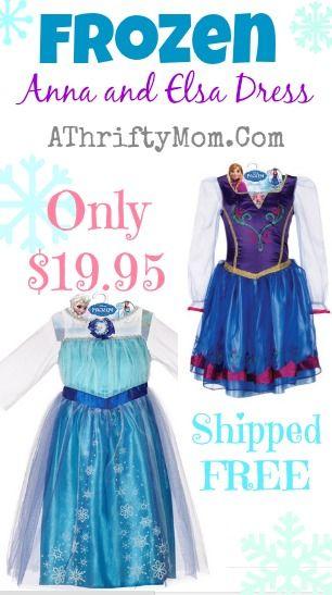 Frozen Disney Dress, Dress Up as Elsa from the hit Disney Film FROZEN, Elsa Costume #Elsa, #Frozen, #Dress: Disney Film, Frozen Dress