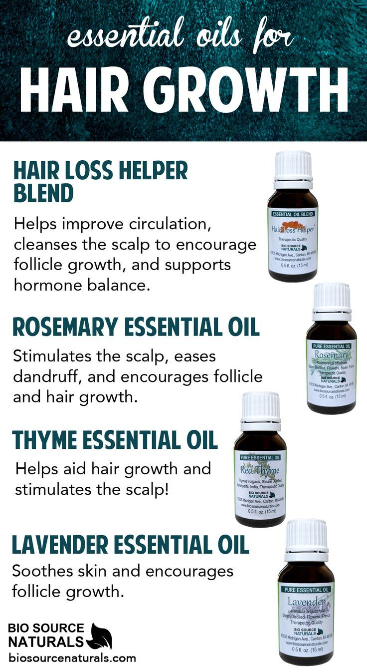 Use these essential oils and blends for hair growth. #aromatherapy