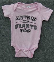 Cutest Little Giants Fan Onesie- Light Pink