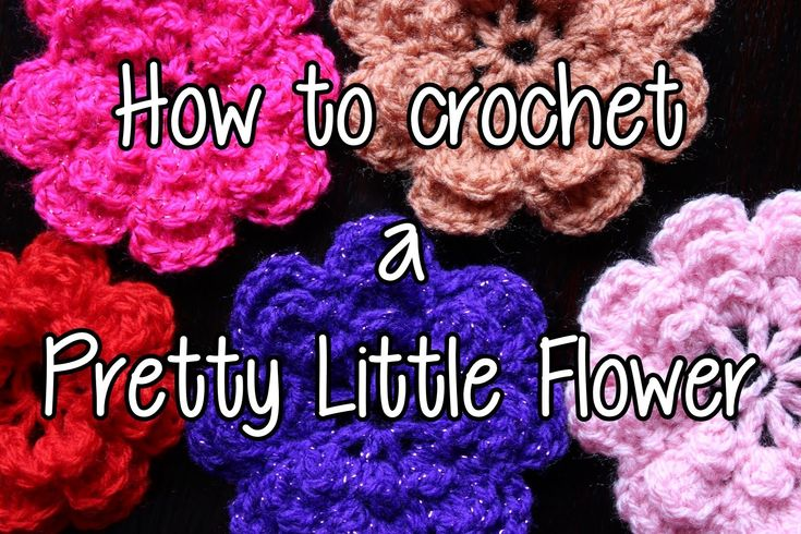 How to crochet a Pretty Little Flower - Part 1.  Easy and explains process well.
