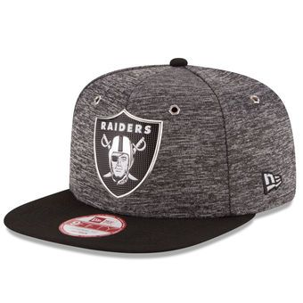 New Era Oakland Raiders Heathered Gray/Black NFL Draft Original Fit 9FIFTY Snapback Adjustable Hat #raiders #nfl #oakland