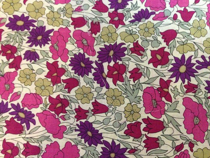 Liberty Tana Lawn Fabric-poppy and daisy-