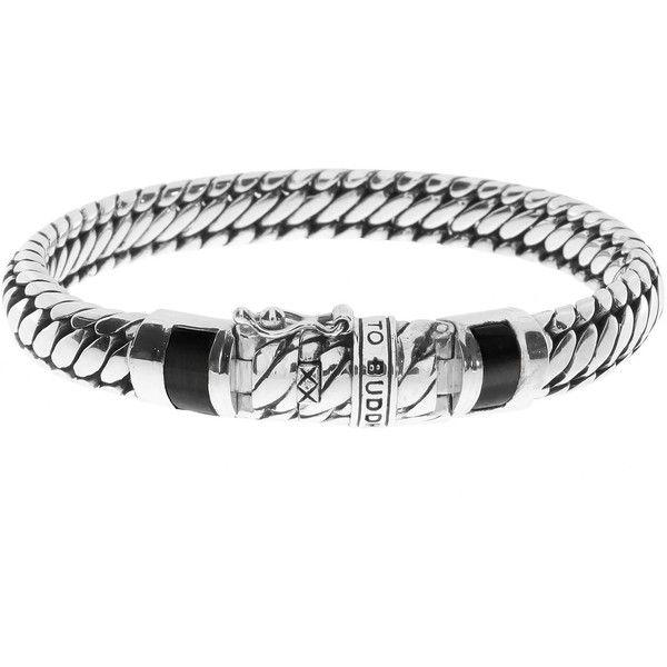 Buddha To Buddha Ben Black XS Sterling Silver Bracelet ($320) ❤ liked on Polyvore