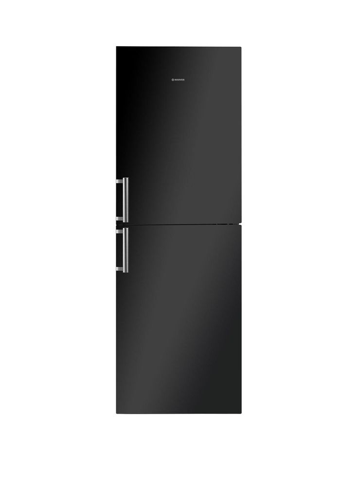 The Hoover HVBN6182BHK Fridge Freezer brings style and convenience to your kitchen. That black exterior with stainless steel handles is sure to hit the spot from the first time you see it – but the interior is just as impressive too.There's lots of space for storing the whole weekly shop in a 200-litre capacity fridge and 95-litre freezer. The fridge features 4 glass shelves, 3 of which are adjustable so you can adapt the space to suit your needs, as well as a wine rack, salad crisper and 3…