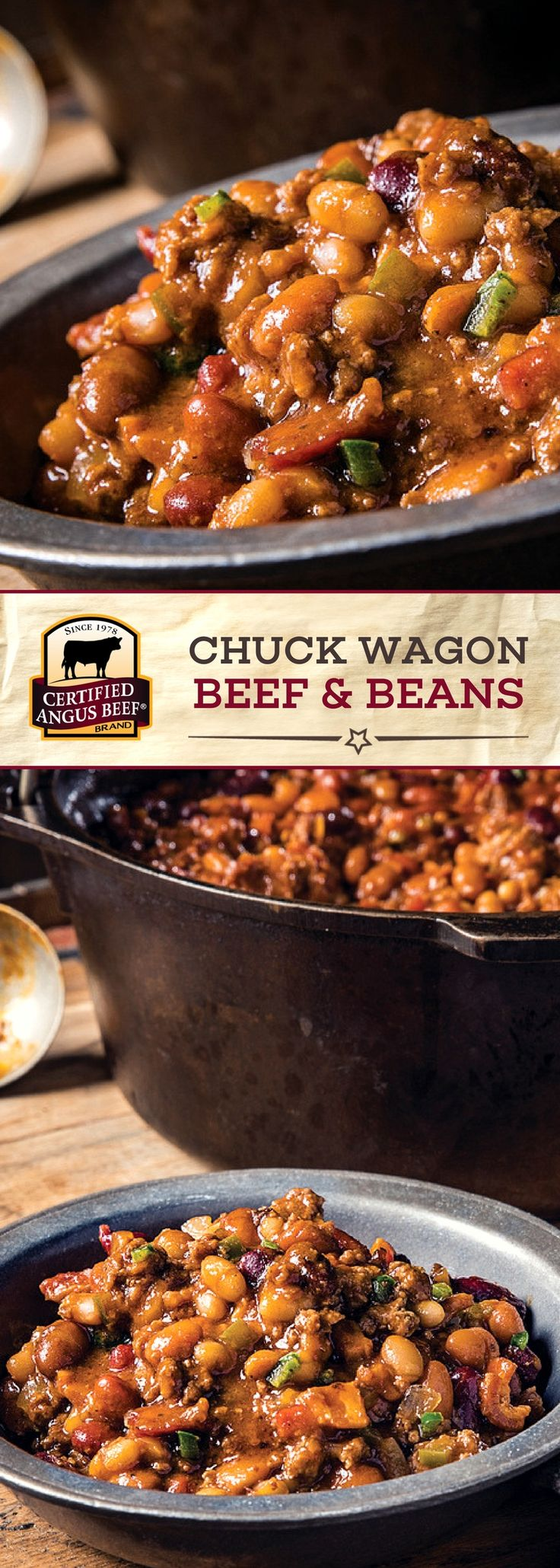 Certified Angus Beef®️ brand Chuck Wagon Beef and Beans