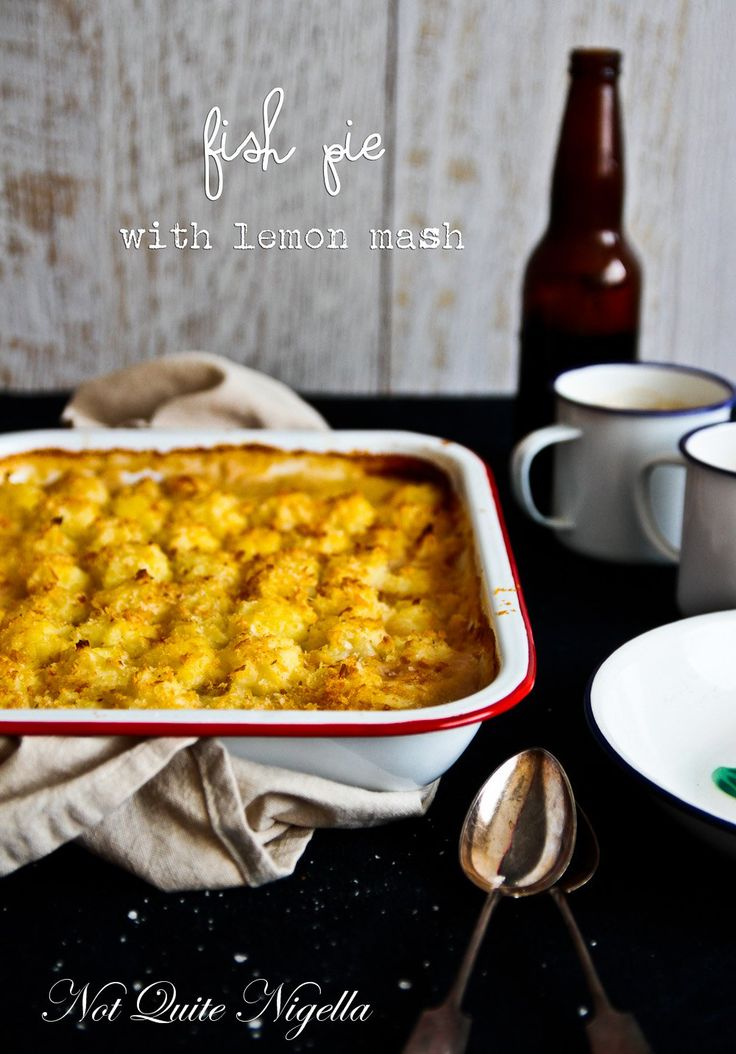 Fish Pie With Crispy Lemon Mashed Potato Topping