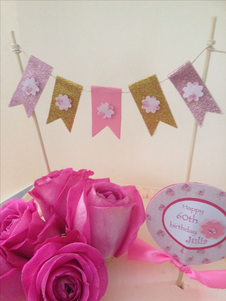 Pretty pink and gold bunting