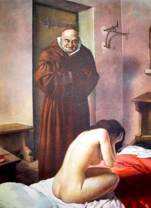 """Giovanni Boccaccio's """"Decameron"""" - Illustration by Gino Boccasile."""