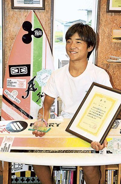 袋井の森君準V サーフィンの全日本キッズクラス (2016/10/1 09:03) #サーフィン #袋井